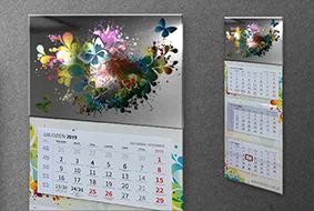 Kalendarze z metalizowaną główką