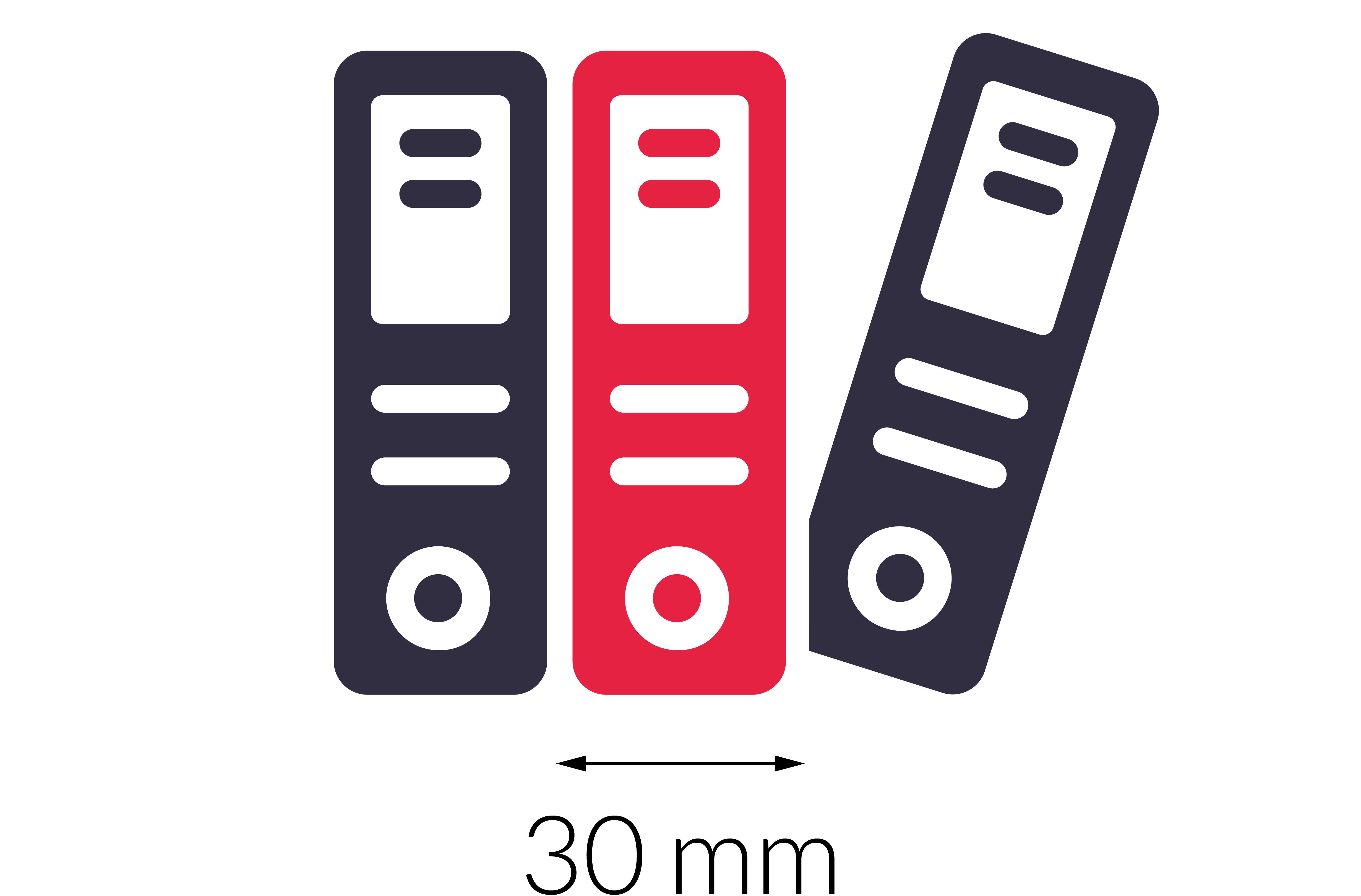 Grubość grzbietu - 30mm